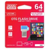Goodram USB flash disk OTG, 3.1A/3.1C, 64GB, ODD3, modrá, ODD3-0