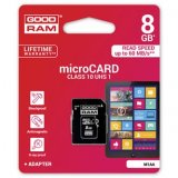 Goodram Micro Secure Digital Card, 8GB, micro SDHC, M1AA-0080R11