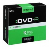 Intenso DVD-R, 4101652, 10-pack, 4.7GB, 16x, 12cm, Standard, sli