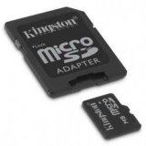 Kingston Micro Secure Digital card, 8GB, micro SDHC, SDC4/8GB, C
