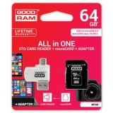 Goodram All-In-One, 64GB, sada micro SDXC, adaptéru a čtečky kar
