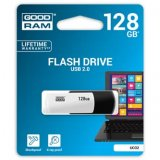 Goodram USB flash disk, 2.0, 128GB, UC02, black and white, UCO2-