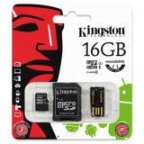 Kingston Micro SDHC Card Class 10 Gen2 - Mobility Kit, 16GB, mic