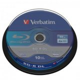 Verbatim BD-R, Dual Layer 50GB, cake box, 43746, 6x, 10-pack, pr