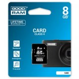 Goodram Secure Digital Card, 8GB, SDHC, S400-0080R11, Class 4