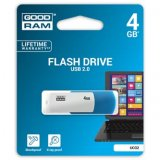 Goodram USB flash disk, 2.0, 4GB, UCO2, blue and white, UCO2-004