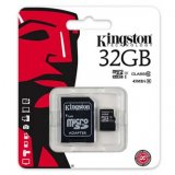Kingston Micro Secure Digital Card, 32GB, micro SDHC, SDC10G2/32