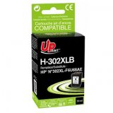 UPrint ink s F6U68AE, HP 302XL, black, 480str., 20ml, H-302XLB,
