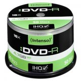 Intenso DVD-R, 4101155, 50-pack, 4.7GB, 16x, 12cm, Standard, cak