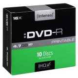 Intenso DVD-R, 4801652, 10-pack, 4.7GB, 16x, 12cm, Standard, sli