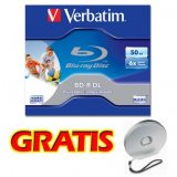 Verbatim BD-R, Dual Layer Printable, 50GB, jewel box, 43736, 6x,
