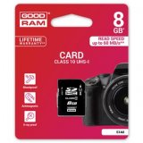 Goodram Secure Digital Card, 8GB, SDHC, S1A0-0080R11, UHS-I