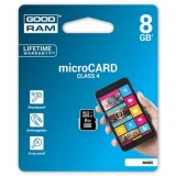 Goodram Micro Secure Digital Card, 8GB, micro SDHC, M400-0080R11