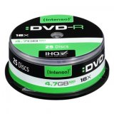 Intenso DVD-R, 4101154, 25-pack, 4.7GB, 16x, 12cm, Standard, cak
