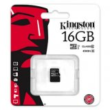 Kingston Micro Secure Digital Card, 16GB, micro SDHC, SDC10G2/16