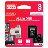 Goodram All-In-One, 8GB, sada micro SDHC, adaptéru a čtečky kare