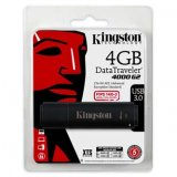 Kingston USB flash disk, 3.0, 4GB, Data Traveler 4000 G2, čierny