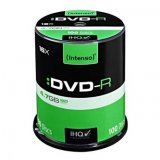 Intenso DVD-R, 4101156, 100-pack, 4.7GB, 16x, 12cm, Standard, ca