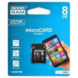 Goodram Micro Secure Digital Card, 8GB, micro SDHC, M40A-0080R11